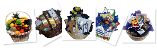 Order gift baskets here for local delivery there